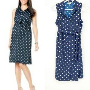 Motherhood Maternity polka dot dress size Large